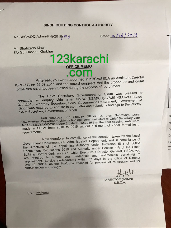 Termination actions started against SBCA officers employed by PPP during 2010 to 2015. Letters issued by SBCA in June 2018